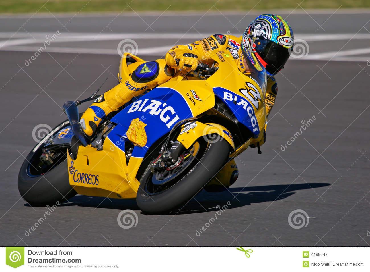 MotoGP Racing, Max Biaggi Editorial Photography.