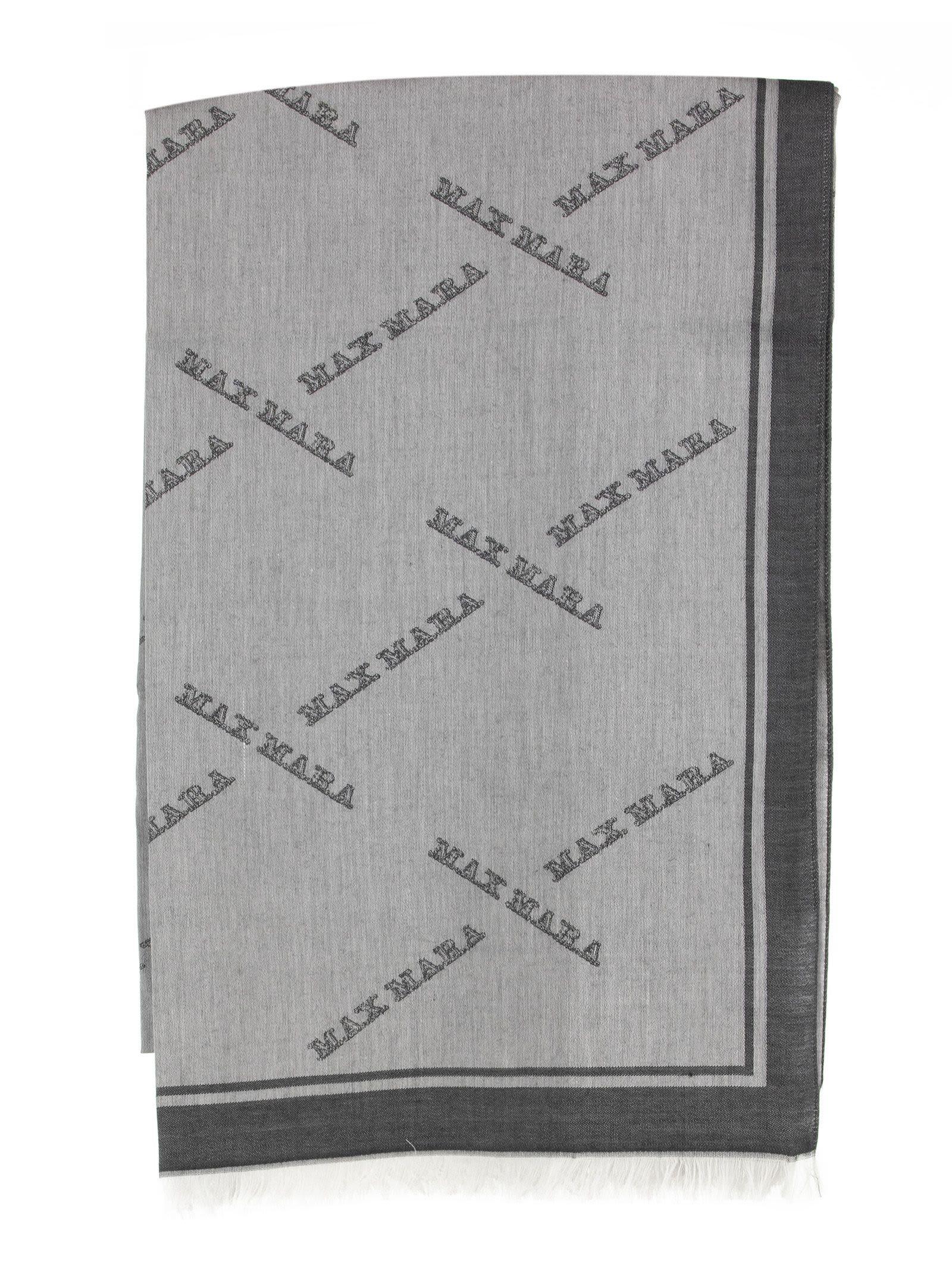 Max Mara Intarsia Logo Foulard.