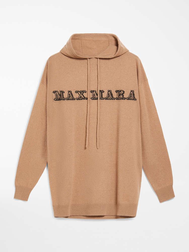 Cashmere yarn sweatshirt, camel.