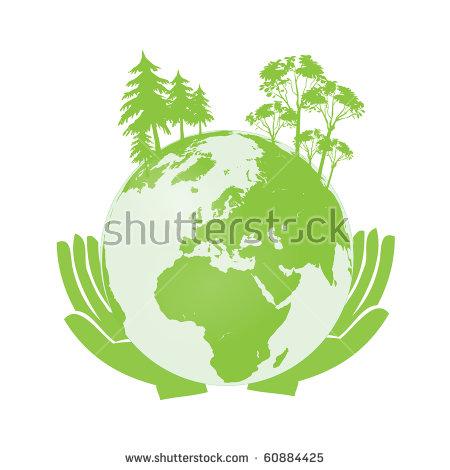 Hands Holding Green Earth Globe Vector Stock Vector 54401230.
