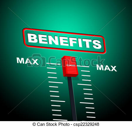 Drawing of Benefits Max Shows Upper Limit And Utmost.