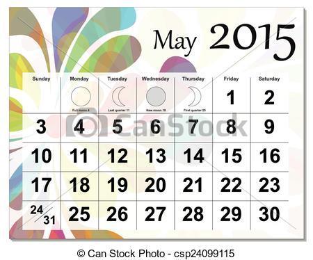 May 2015 calendar clipart 2 » Clipart Portal.