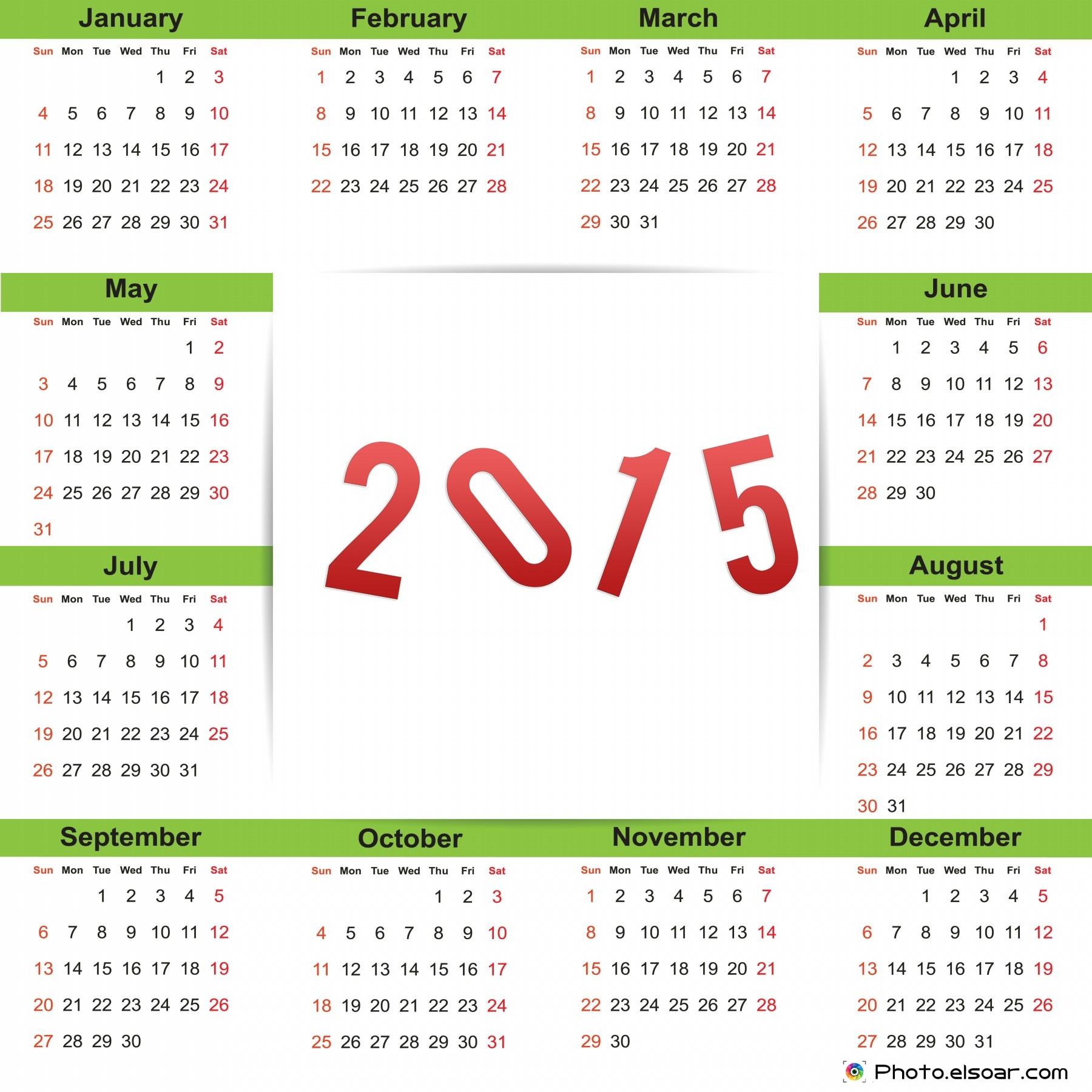 New Year 2015 Calendars.