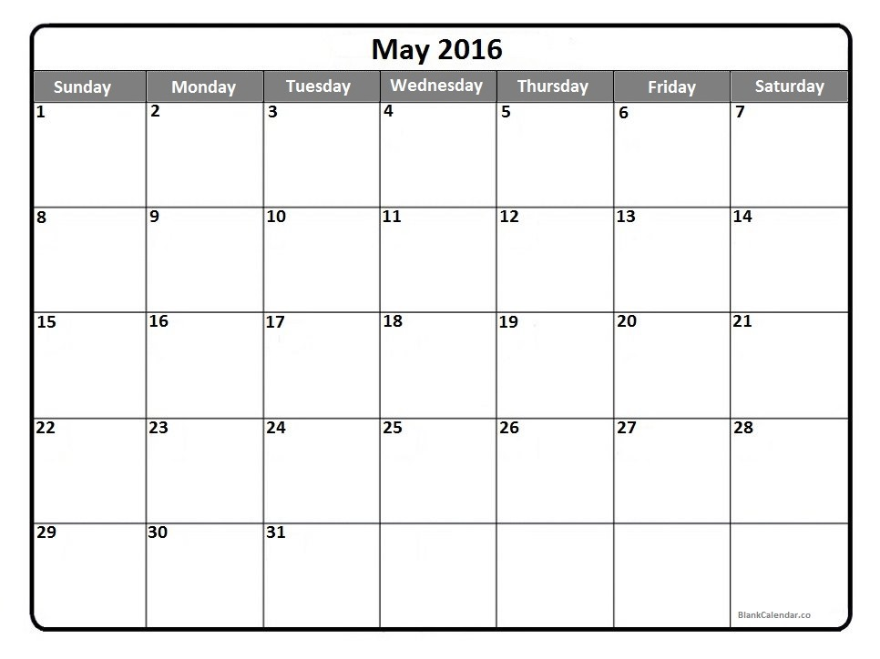 2016 Calendar Clipart.