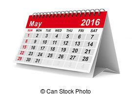 May 2016 Calendar Clipart.