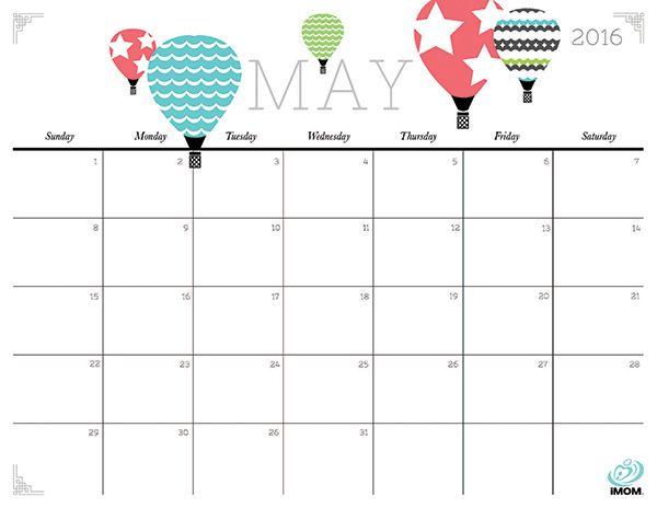 May Calendar Clipart Summer.