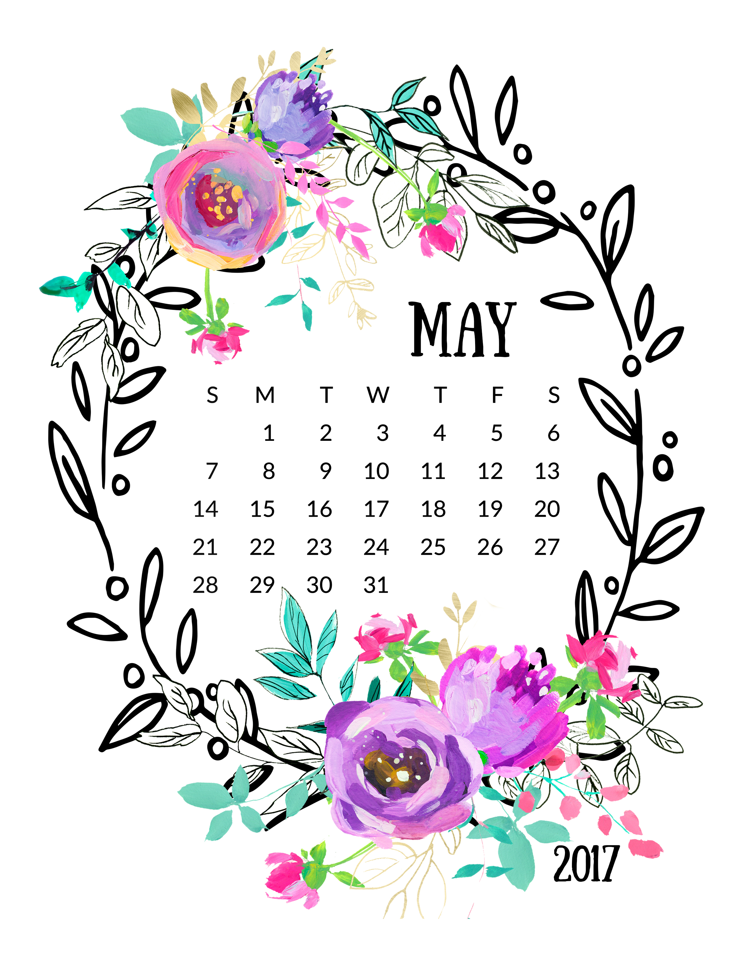 Free Calendar Clipart may 2017, Download Free Clip Art on.