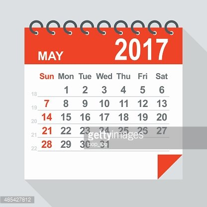 May 2017 Calendar Illustration premium clipart.