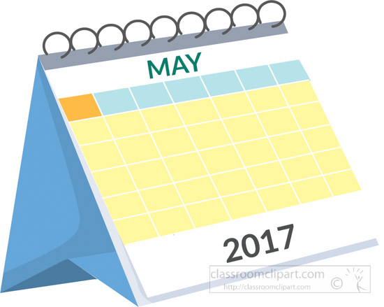 Calendar : desk calendar may 2017 white clipart 2.