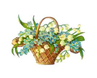 Antique Images: Easter Clip Art: Vintage Victorian Die Cut.