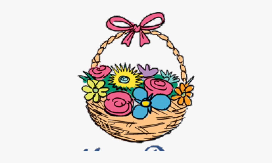 Mothers Day Clipart May Basket.