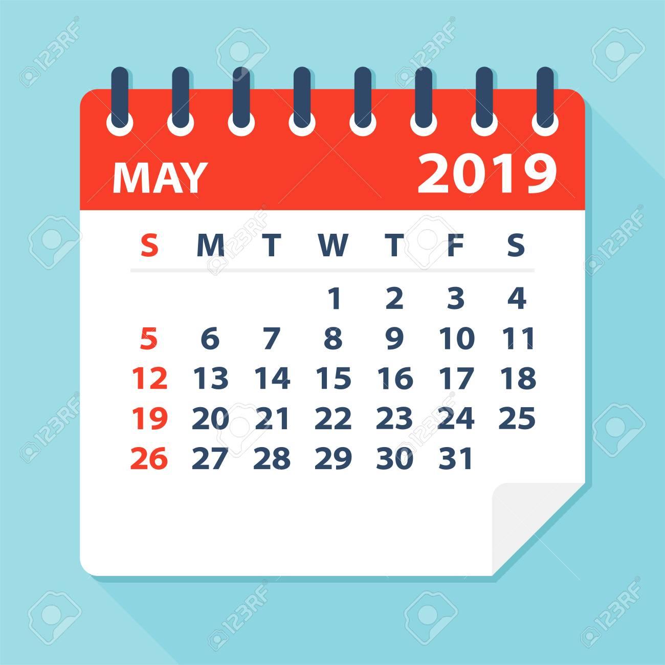 May 2019 Calendar Leaf.