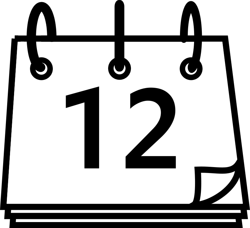 Calendar Clipart Black And White Png.