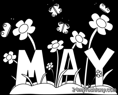 May Clip Art Black And White images looks.