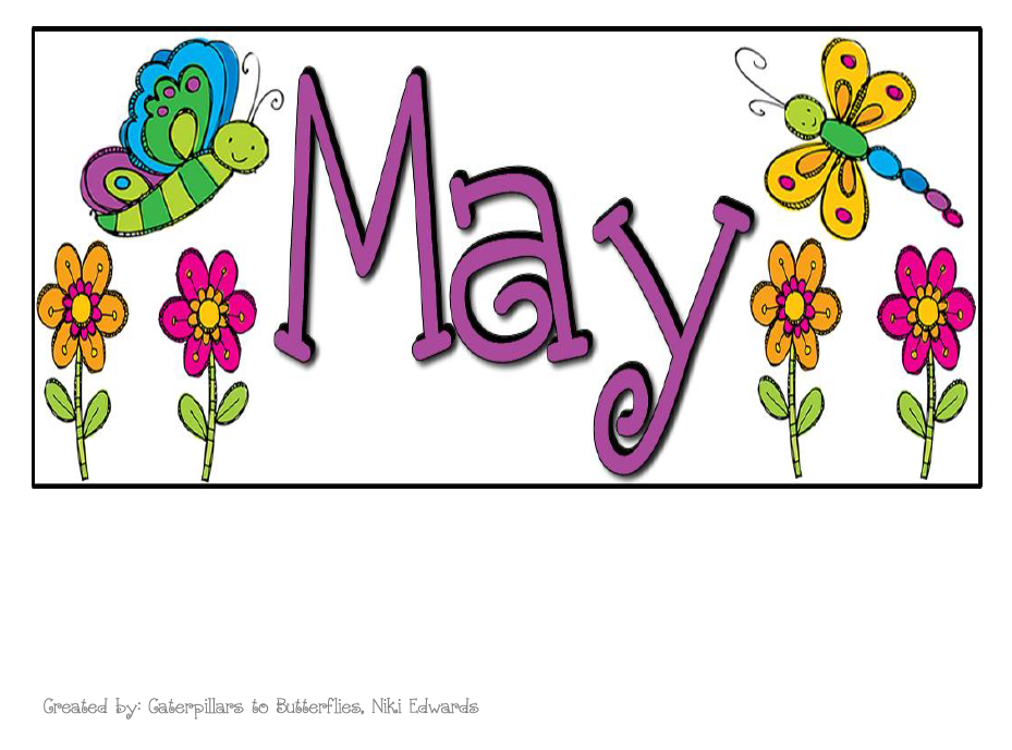 May Calendar Heading Clipart.