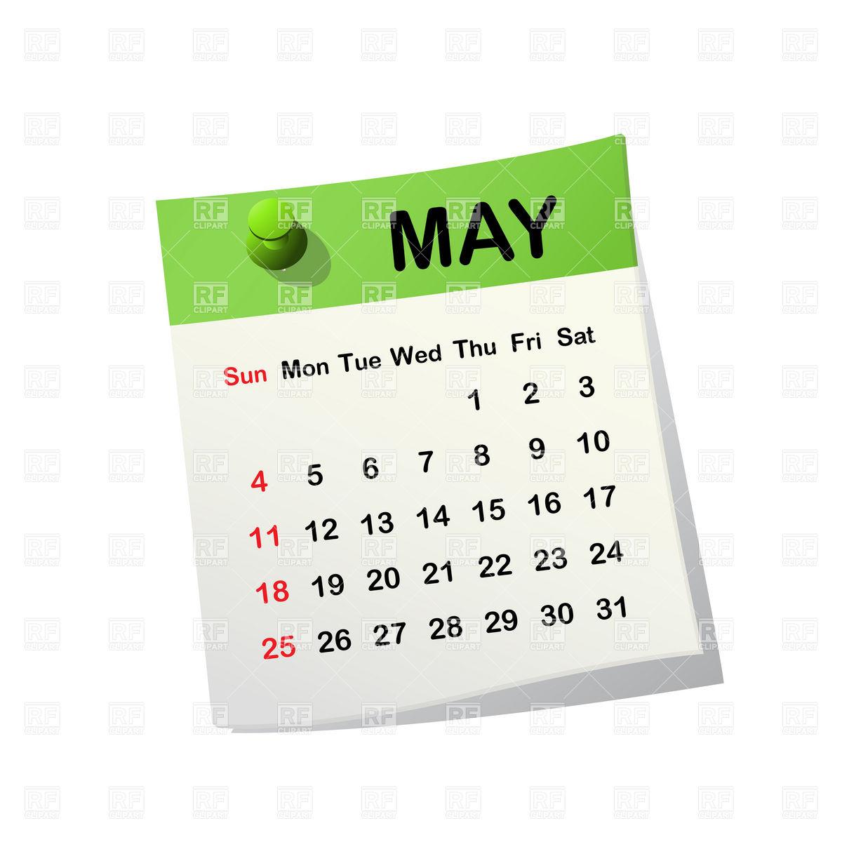 May Header, May Calendar Free Clipart.