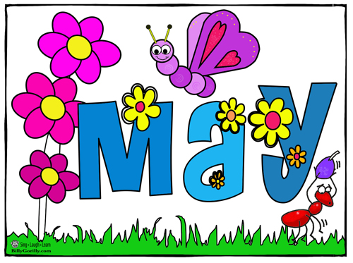 Clip Art Month Of May' Clipart.