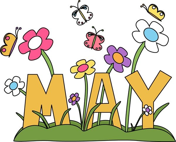 May Flowers Clipart.