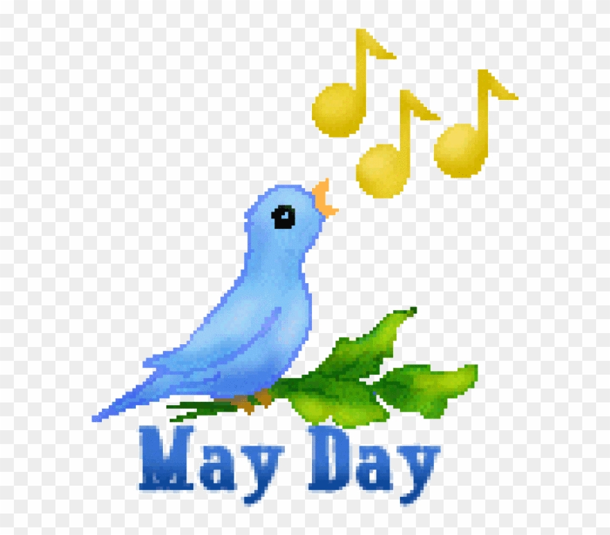 May Day Clip Art Of Flowers And Poles Plus Butterflies.
