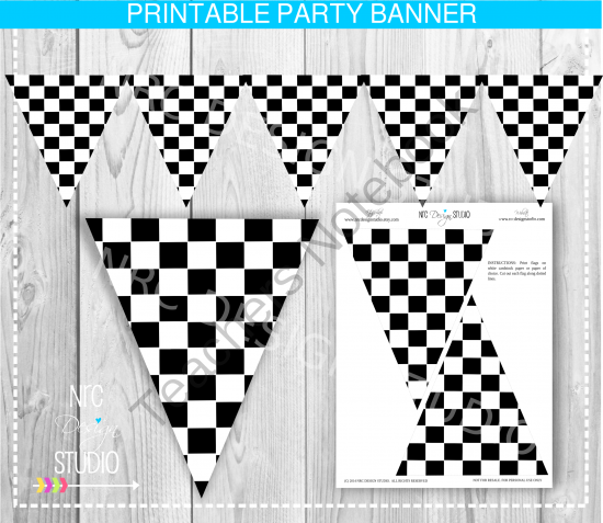 Printable Racing Banner.