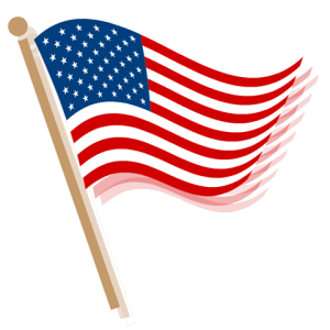 May Flag Banner Clipart.