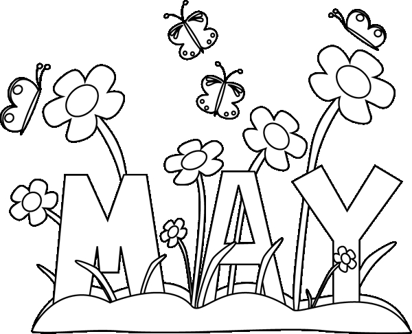 143 May Flowers free clipart.