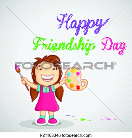 Friendship day messages clipart.
