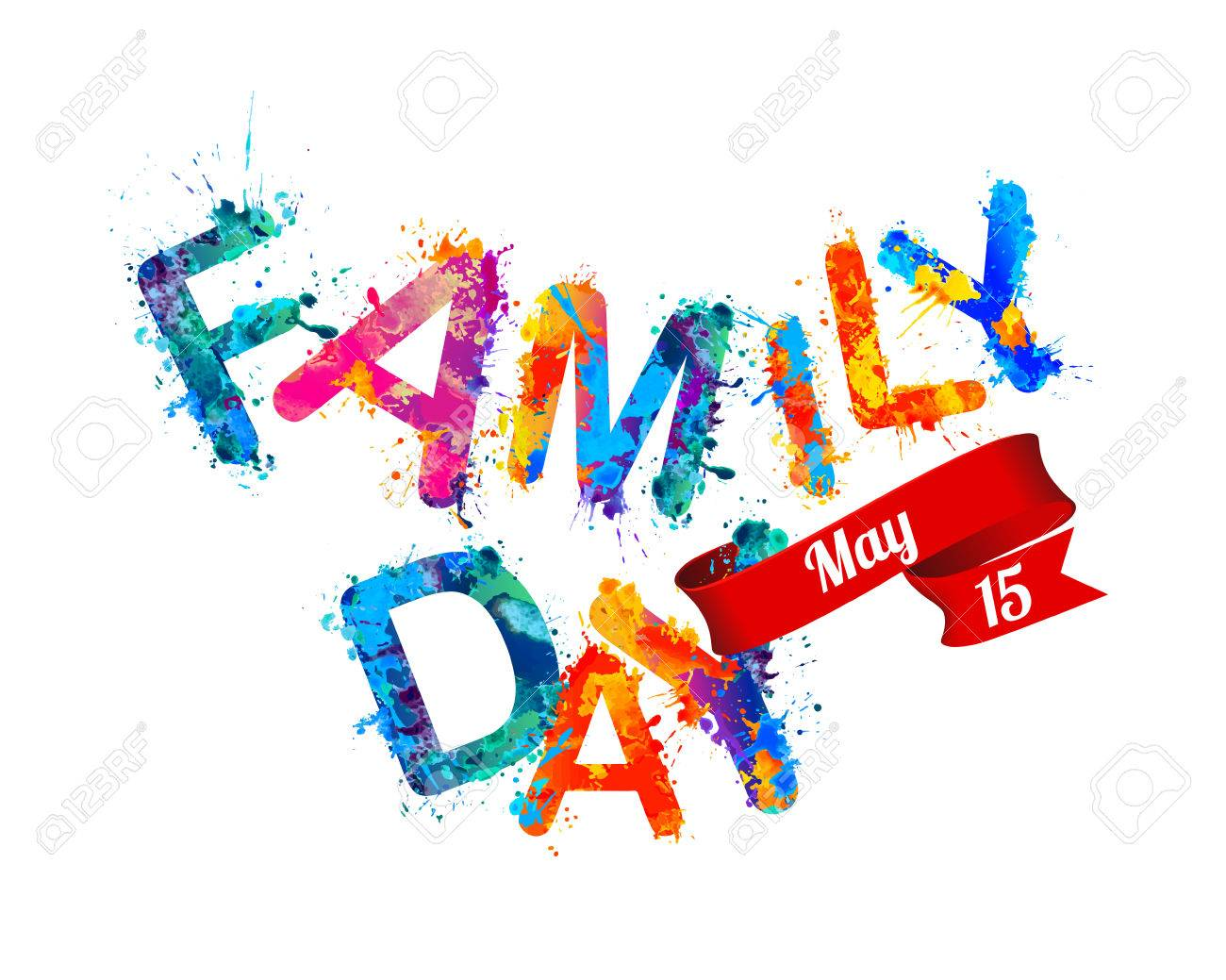 Family day. May 15. Holiday card » Clipart Station.