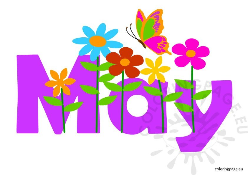 Month of May clipart.
