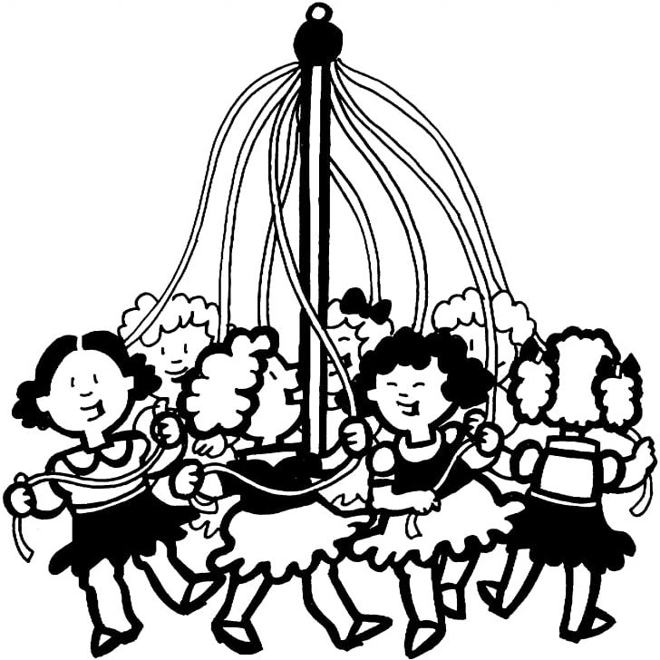 Coloring Book May Day Maypole Child PNG, Clipart, Free PNG.
