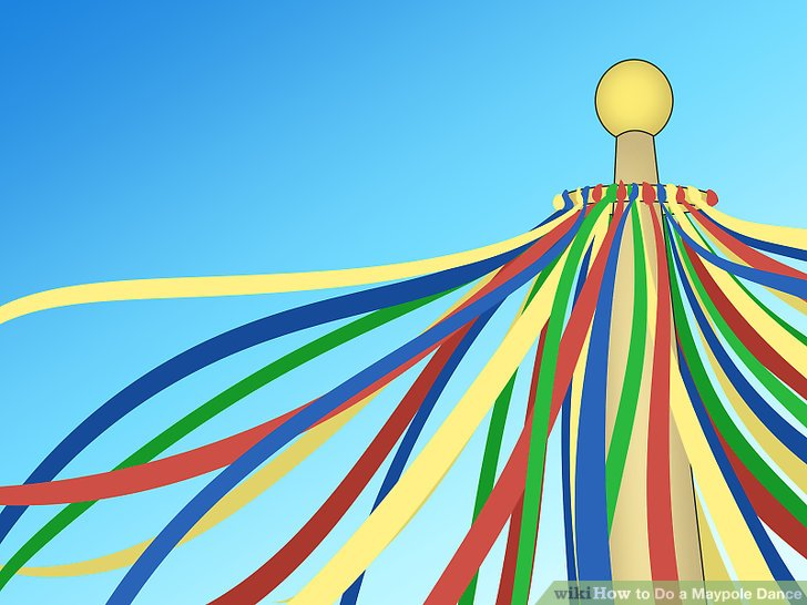 May clipart maypole dance, May maypole dance Transparent.