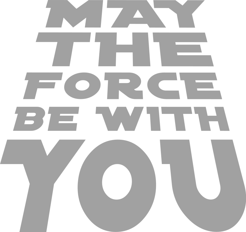 May the force be with you clipart clipart images gallery for.