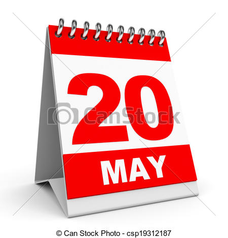 Stock Illustration of Calendar. 20 May..