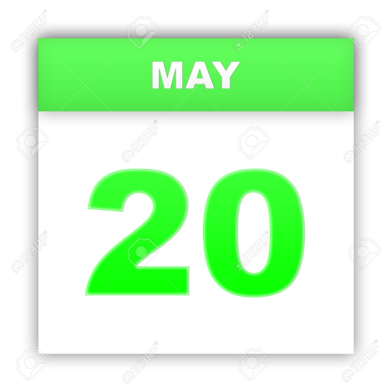May 20. Day On The Calendar. 3d Stock Photo, Picture And Royalty.