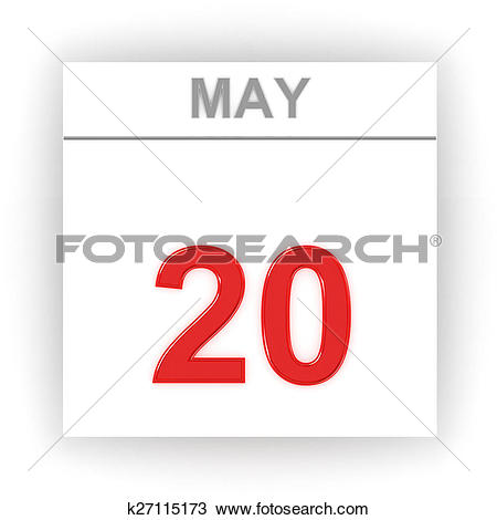 Stock Photo of May 20. Day on the calendar. k27115173.