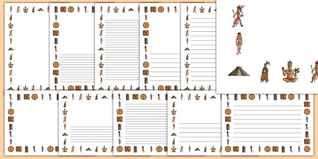 Maya Civilisation Page Borders.
