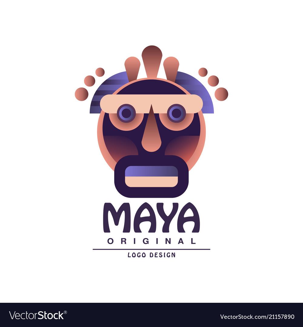 Maya logo original design ethnic emblem aztec.