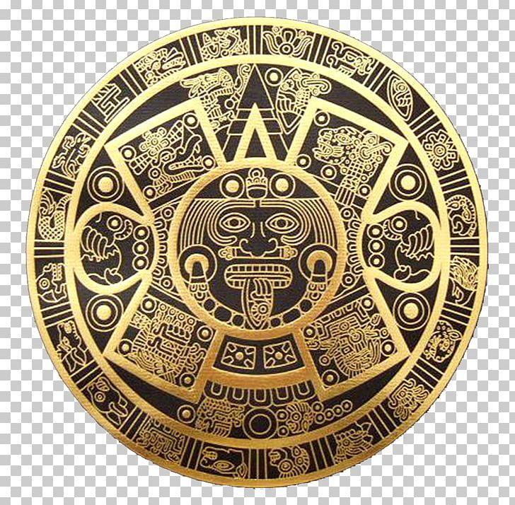 Maya Civilization Aztec Calendar Stone Mayan Calendar PNG.