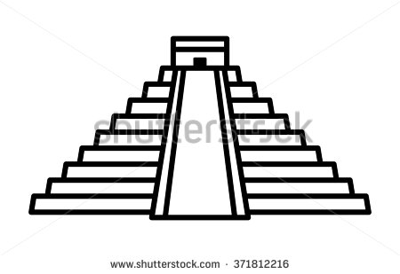 Mayan Temple Clipart.