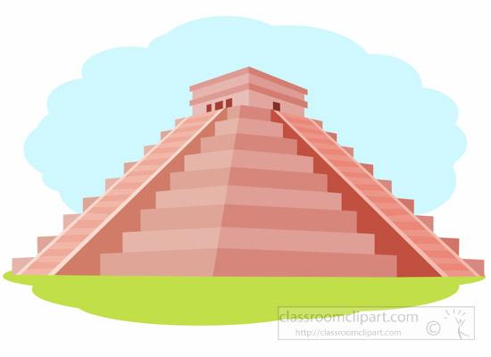 Mayan Pyramid Clipart.