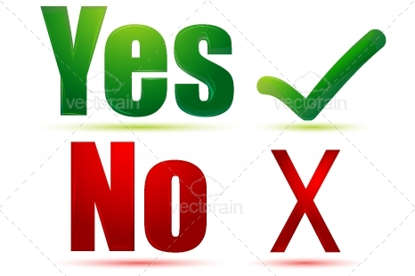 Yes Or No Clipart.