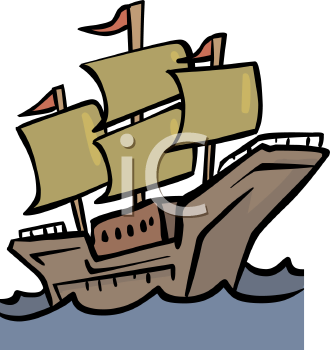 The Mayflower Ship Clip Art.