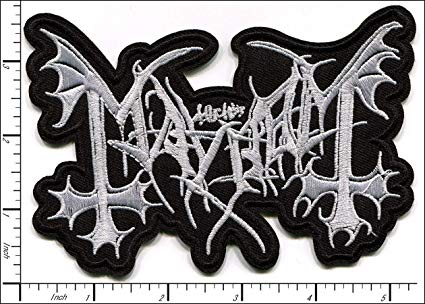 10 Pcs Embroidered Sew/Iron on patches Mayhem Heavy Metal Band AP056mE.