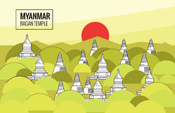 Myanmar Bagan Stock Illustrations.