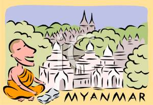 Monk Outside Myanmar.