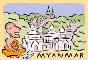 Monk Outside Myanmar.