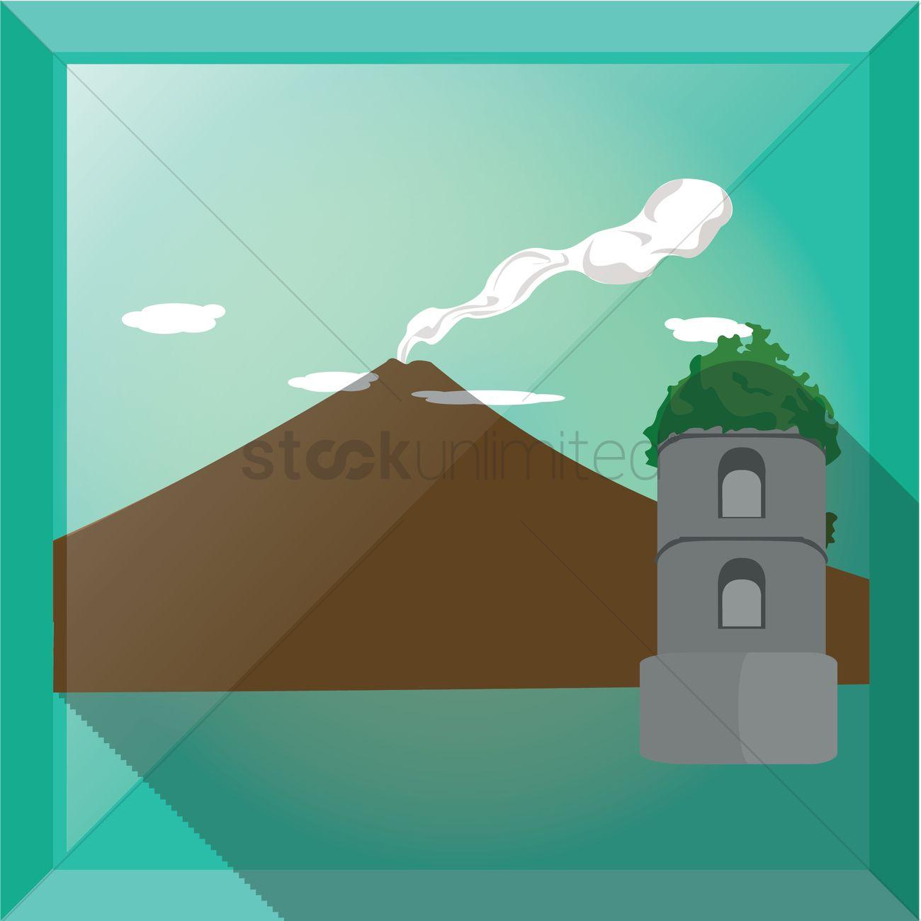 Mayon Volcano Clipart.