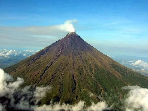 Mount Mayon, is an active volcano located in Legaspi City Albay.
