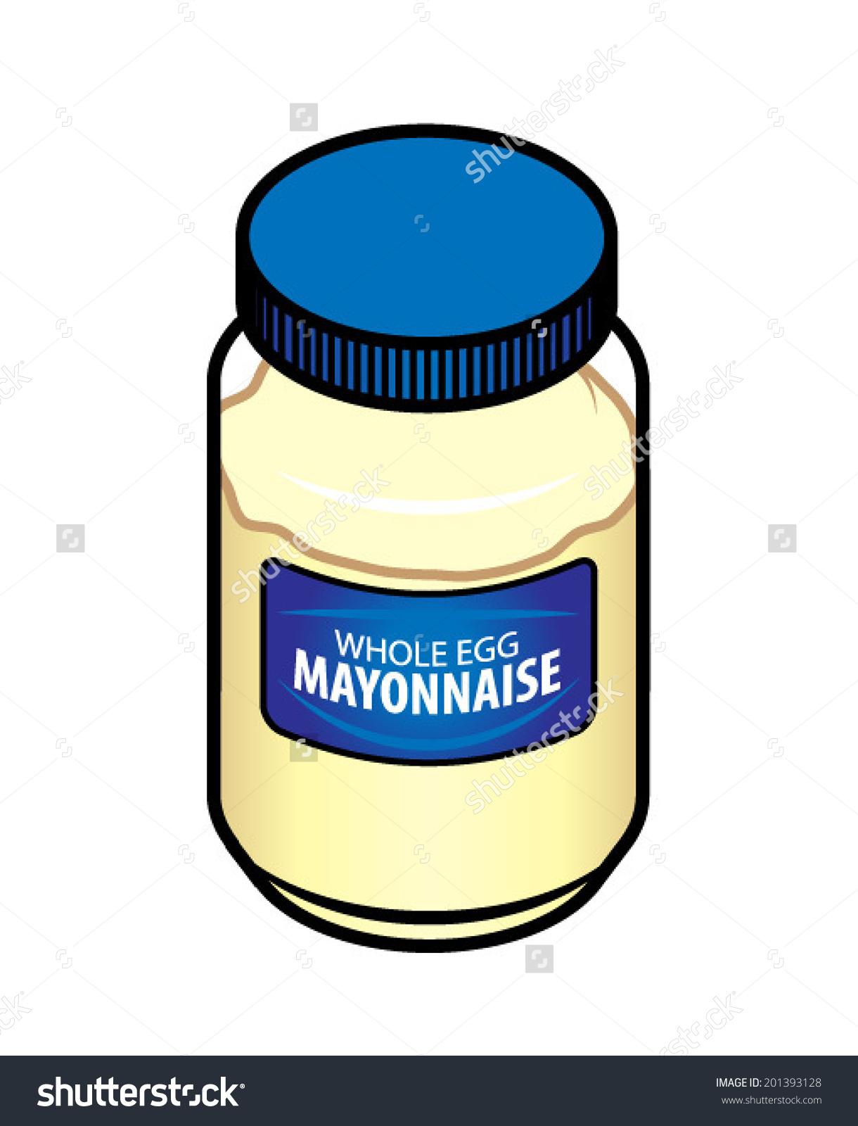 Jar Whole Egg Mayonnaise Stock Vector 201393128.
