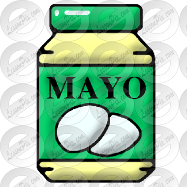 Mayonnaise Picture for Classroom / Therapy Use.